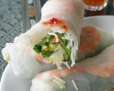 Summer Rolls - fresh greens and large shrimp